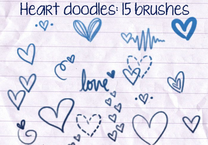 Heart Doodles Brushes 1